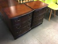 VERY NICE CONDITION REPRODUCTION BEDSIDE DRAWERS
