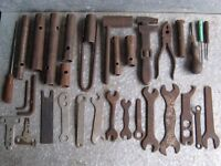 A selection of old garage tools