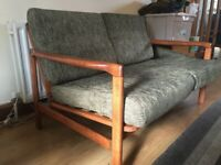 Retro mid century modern two seater sofa imported from Germany