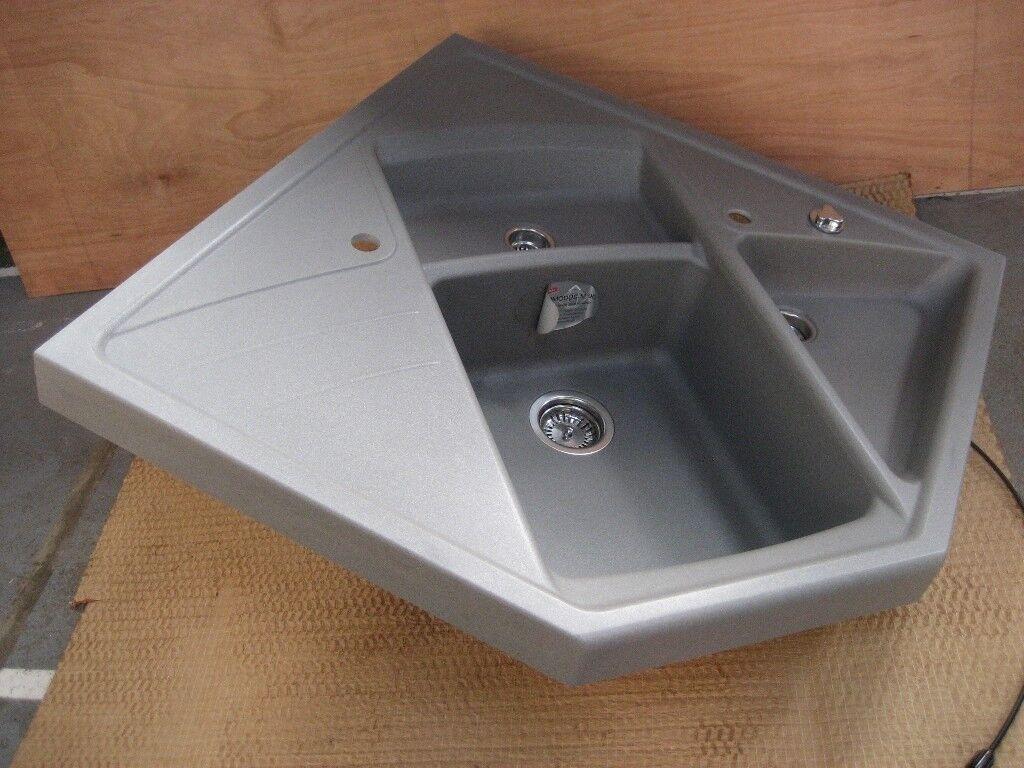 blanco silgranit sinks undermount sink newunused blanco silgranit modus m90 sink corner