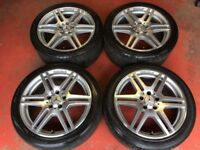 18'' GENUINE MERCEDES E CLASS AMG W212 ALLOY WHEELS TYRES ALLOYS 5X112