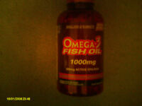 Unsealed Bottle of Holland & Barrett Omega 3 Fish Oil Concentrate Capsules 1000mg 350 Capsules