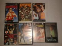 7 VHS tapes sport films ROCKY stallone PENITENTIARY leon kennedy YOUNGBLOOD rob lowe NATURAL redford