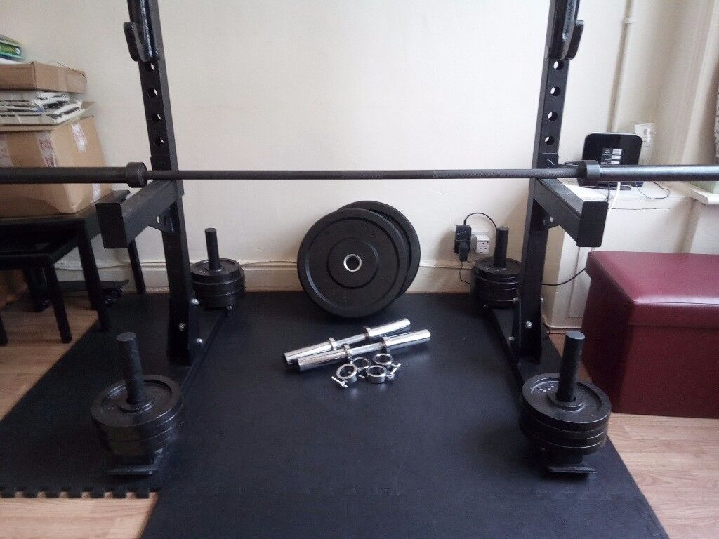 Dumbell barbell weights and strength shop yoke station squat rack in
