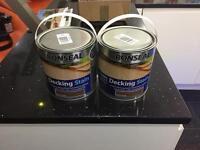 Ronseal 2.5L teak decking paint x 2 tins