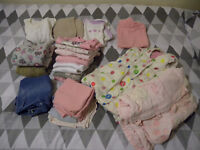 bundle of well used baby clothes (6-9 months)