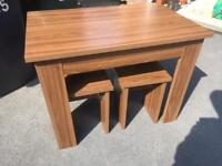 Small dining table & 4 stools