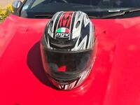 AGV helmet red black silver
