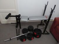 Brilliant Christmas present! Weights Bench and all weights included -great price