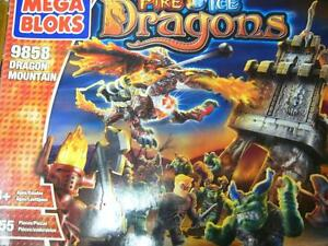 MEGA BLOKS FIRE & ICE DRAGONS - DRAGON MOUNTAIN $125