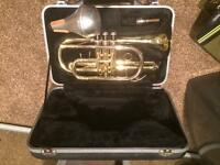 Prelude by back b flat cornet with case and mute