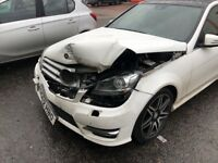 Mercedes C180 AMG Sport + 62 Plate Auto Accident Damaged