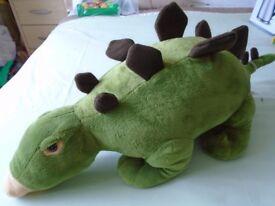 Soft Toys - 2 x large dinosaurs