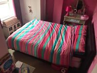 Faux leather double bed for sale