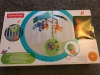 Fisher Price - Rainforest Peek-A-Boo Leaves Musical mobile new and boxed