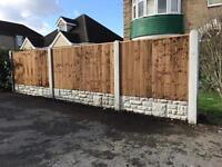 Fencing, slabs, turf, garden clearance,trees, gravel fence panels. Decking block paving