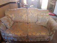 Champagne 3 &2 seater sofa