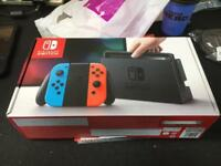 Nintendo switch with Zelda limited edition neon