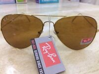 Ray-Ban Gold Aviator Style Sunglasses