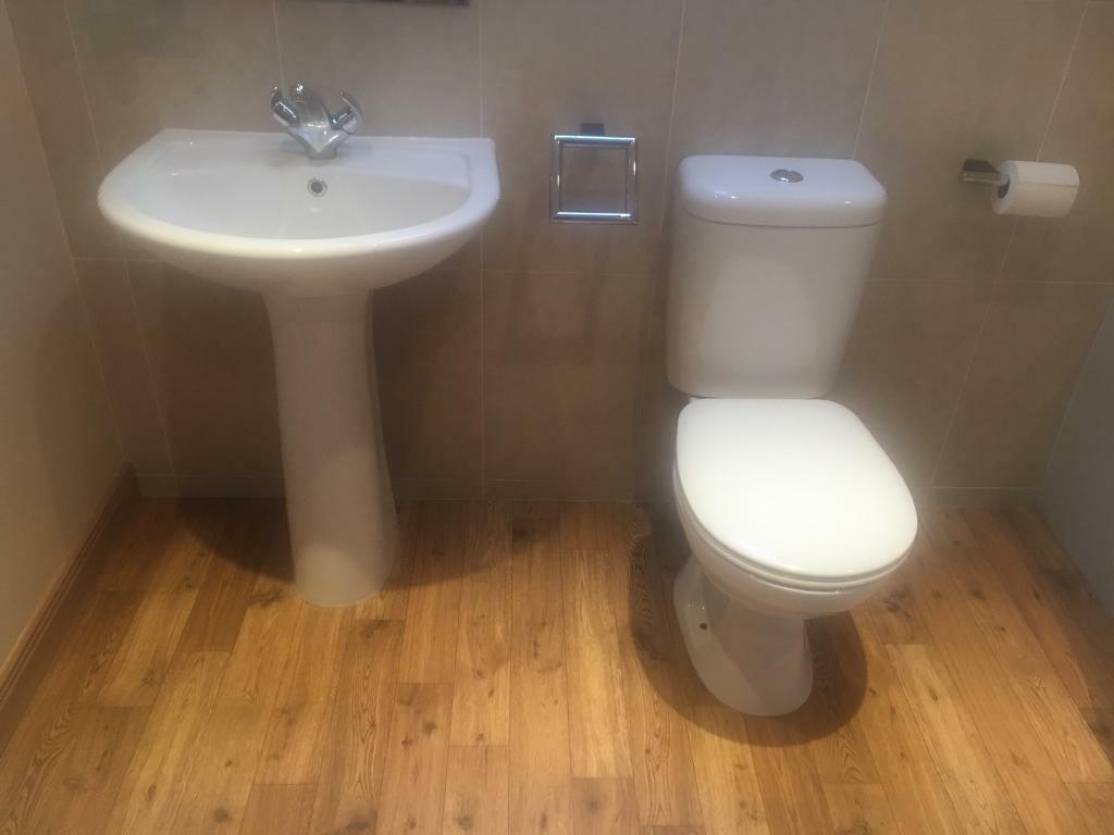 Homebase White St Tropez Toilet and Sink   in Cupar, Fife   Gumtree