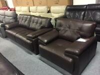 Sofa Brand New 3 STR plus Armchair SCS Endurance Leather 12 Months Interest Free Finance Available