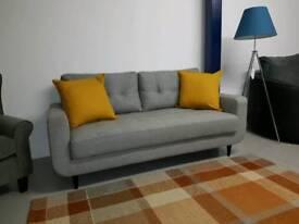 Gplan high quality retro sofa grey . NEW . Rrp 1200