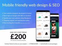 London web design, development, SEO from £200 - UK website designer & developer