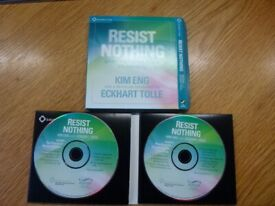 Guided Meditation by Kim Eng CD's - Resist Nothing, forward by Eckhart Tolle. RH10 5 mins M23
