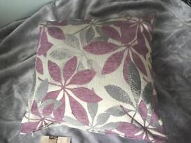 Pair of Lilac/ Grey Patterned Cushions, Brand New