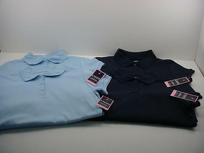 4 NEW Ralph Lauren CHAPS School Wear Uniform POLO SHIRT NAVY BLUE Girl's 16 NWT