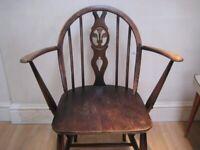 Lovely Original Vintage Ercol Fleur De Lys Low Armchair - Wonderful condition