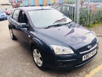 FORD FOCUS AUTOMATIC 1.6 PETROL 5 DOORS HATCHBACK GREY 2007 AIRCON ALLOYS 1 OWNER