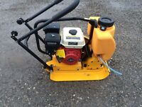 WACKER PLATES !!! FREE DELIVERY petrol vibrating plate paving tarmac builders trailer cement mixer