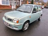 NISSAN MICRA 2002 1.L ***LOW MILLAGE, 1 YEAR MOT, NEW CLUTCH***