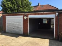 Secure 400 sq ft Lock Up double garage to let with alarm, electricity, water and power
