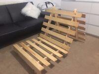 Single wooden futon frame