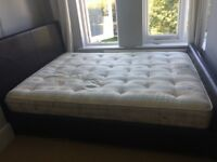 Luxury leather king size bed for sale