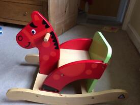 ELC toddler wooden rocking horse