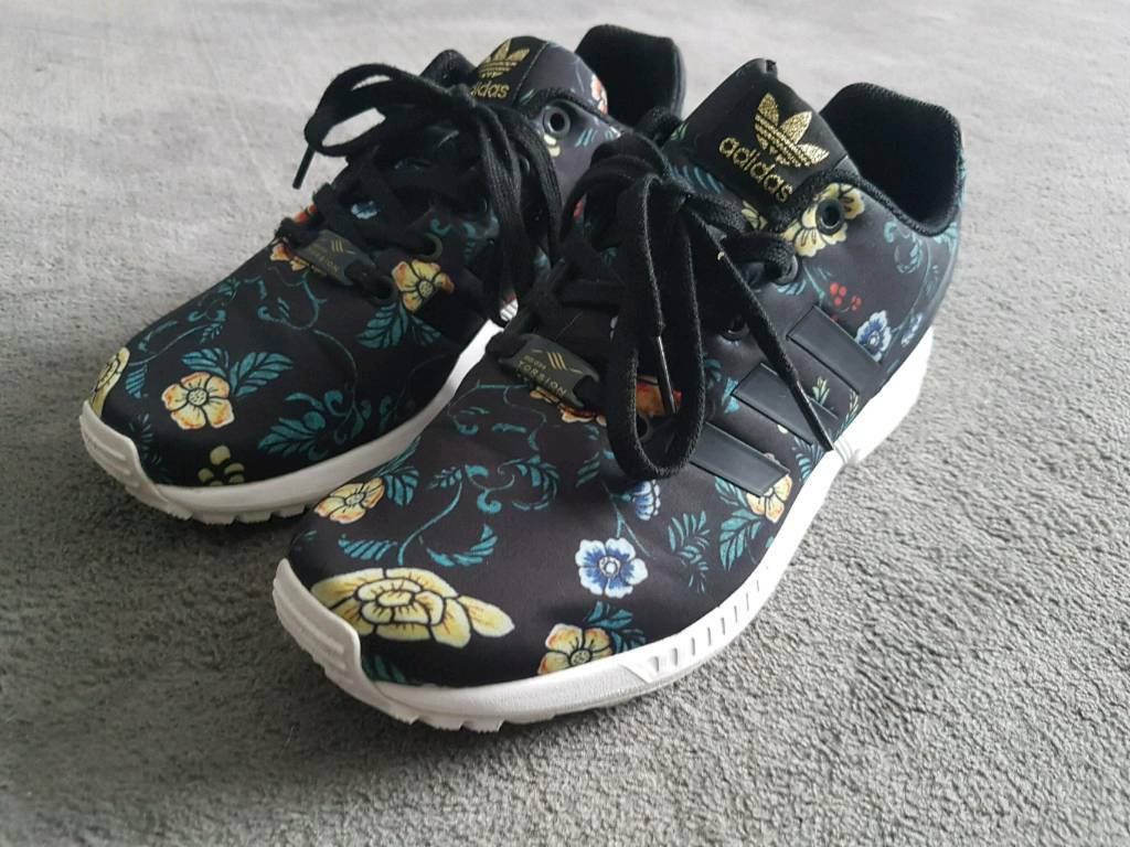 competitive price a0266 f59ba Adidas Torsion ZX flux girls trainers size 5 1 2