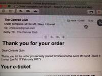 Mr Scruff/Canvas/tickets x2