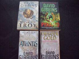 Eight David Gibbins books very good condition