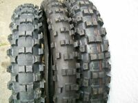 Motorcycle tyres for trail/enduro bikes.