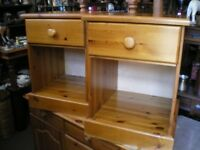 MATCHING PAIR OF PINE BEDSIDE TABLES