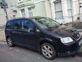 2004 VW Touran, 2.0l, Black, Full Leather seats, Low Miles