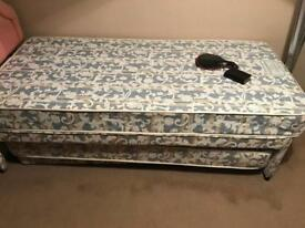 Bed single with double fold out never used