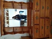 solid wood Pine dresser with mirror