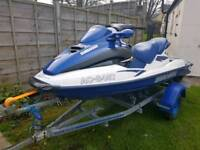 2002 YEAR JET SKI SEA DOO BOMBARDIER GTX RF1 WITH TRAILER