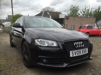 Audi A3 black addition 20 litre tdi Quattro s/line
