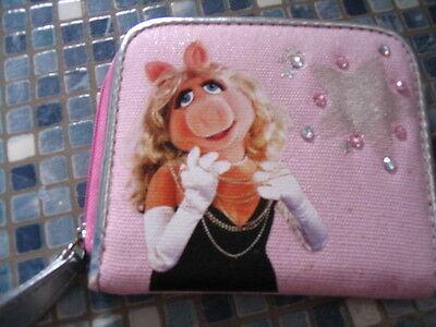 DISNEY STORE MISS PIGGY MUPPETS PINK PURSE -BRAND NEW VERY RARE
