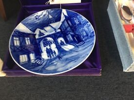 MEISSEN Plate - Blue and White - Boxed